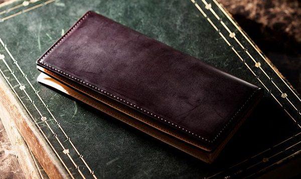 国産最高級コードバンを使ったメンズ長財布(札入れ)