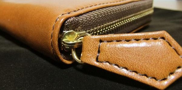 マット―ネ・ラージウォレットのコバ面と縫製