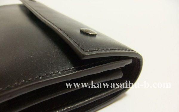 ユハクの長財布に使われているブライドルレザー