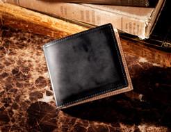 国産最高級コードバンを使った贅沢な二つ折り財布