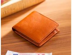 全面ミネルバボックス仕立ての二つ折り財布