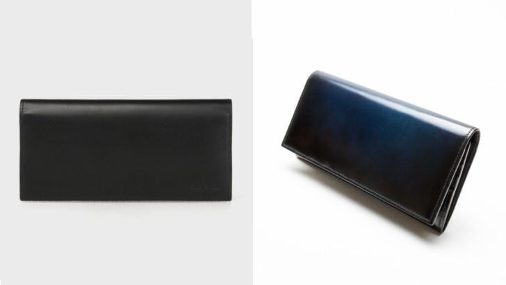 ※左:一般的な色の財布 右:yuhakuの財布