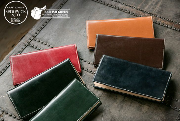 【BRITISH GREEN】ブライドルレザー 長財布
